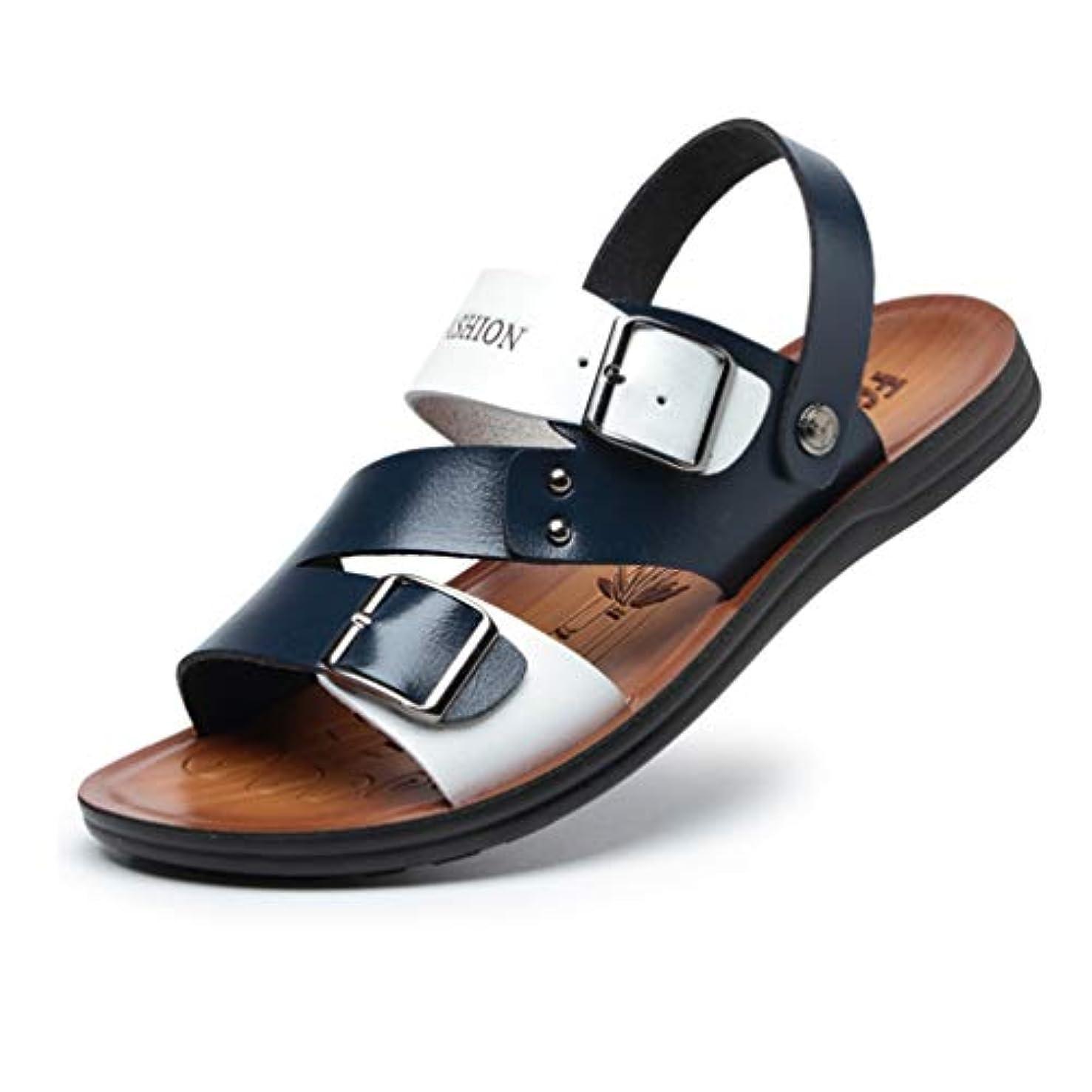 注入する礼儀誰も紳士靴 ビジネスサンダル ビーチサンダル コンフォート 夏 オシャレ ストラップ ローマ オフィス 軽い かかと スポーツ 2way 大きいサイズ アウトドア バックベルト 旅行 滑り止め 革靴 メンズ 24.0-27.0cm