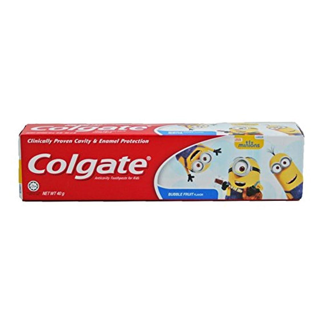 斧インディカバスルームコルゲート Colgate 子供用 Kids-BUBBLE FRUIT FLAVOR (ミニオン, 40g) [並行輸入品]