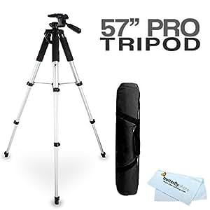 57 Camera Tripod w/ Case For Fuji Fujifilm Finepix S8200 S8300 S8400 S8500 S8600 SL1000 HS50EXR X100S X-M1 XP60 XP70 XP80 XP90 XP120 S6900 S9200 S9400W S9800 S9900W X-A2 QX2 X-T1 X30 Digital Camera [並行輸入品]