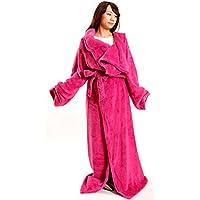 マイクロファイバー 着る毛布 ガウンタイプ ピンク