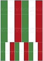 KUNGFU GRAPHICS カンフー グラフィックス イタリア国旗 Italy FLAG レーシングスポンサーロゴ マイクロデカールシート