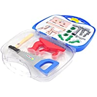 Little Treasures 14 piece deluxe tool series pretend and play tools play set in carry case - great educational toy set for fixer-mans jr [並行輸入品]