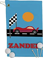 Race Carゴルフタオル–Full印刷( Personalized )