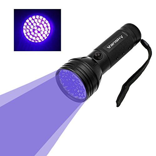 Vansky51LED 紫外線ブラックライト UVライト懐中電灯 ペットのオシッコ汚れ対策に(ブラック)
