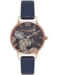 オリビアバートン OLIVIA BURTON 腕時計 SIGNATURE FLORALS NAVY & ROSE GOLD OB16WG13 [並行輸入品]