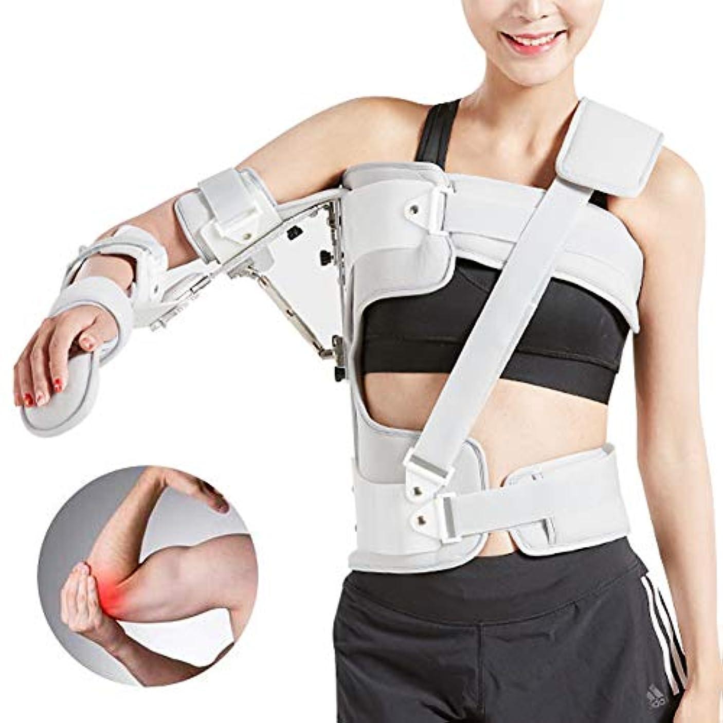 撤回する口ひげ固める調節可能なアームスリング外転枕骨折肘サポートブレース、傷害回復アーム固定、転位回旋腱板滑液包炎腱炎、ワンサイズ - ユニセックス