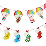 BESTOYARD Christmas paper banners christmas tree banner buntings decoration party supplies for xmas - (Parachute + socks) - 2pcs
