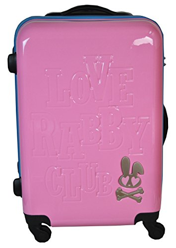 (ラブラビ)LOVE RABBY CLUB ジッパー キャリーバッグ 約46L/2lc5-56hy/ピンク