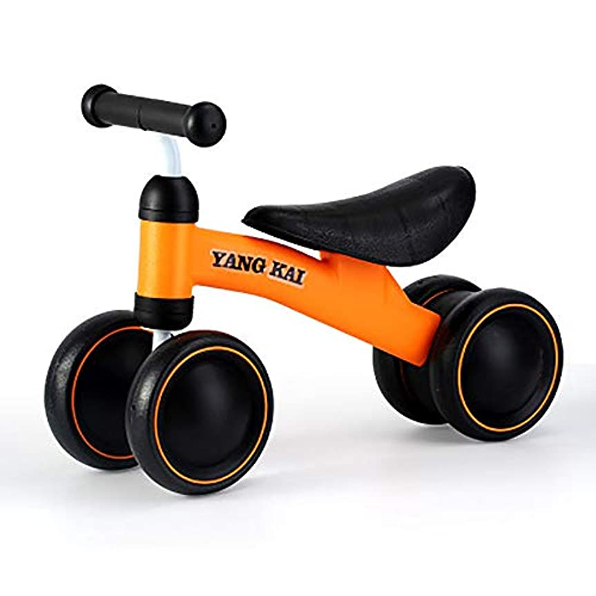 丈夫希少性子豚屋内ドライブ学習玩具四輪ベビーウォーカーバランスバイクベビー幼児バイクアウトドア12ヶ月から3年(オレンジ+黒)