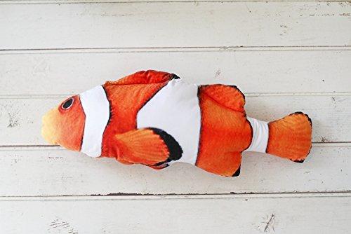 リアル 魚 抱き枕 ぬいぐるみ クッション クマノミ (大(60cm))