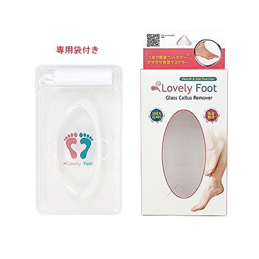 組み込むリード大惨事Lovely Foot Glass Callus Remover (ガラス角質取り)