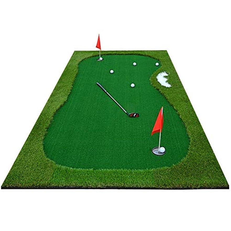 蒸留する四面体粒子専門家 ゴルフ練習練習用品,ゴルフ練習器 パター付きセット,ポータブル パター練習マット 屋内または屋外