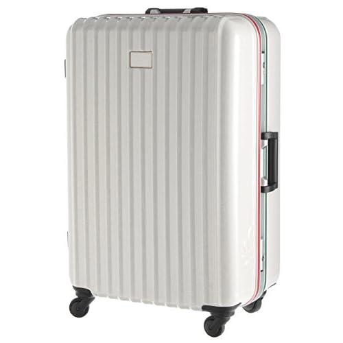 (ユナイテッドカラーズオブベネトン) UNITED COLORS OF BENETTON 静走ラインキャリーバッグ・スーツケースL ホワイト FREE