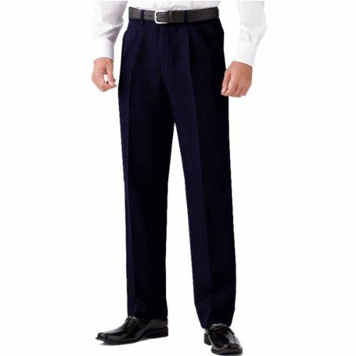 選べる裾上げ済みツータックビジネススラックス 通年物 ネイビー (ウエスト85cm, レングス73cm)