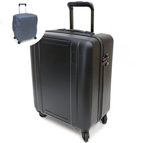[セット品] (シフレ ゼログラ) siffler ZEROGRA ZER2008-46 軽量スーツケース ゼログラ 46cm 40L 2.3kg 機内持込可能 ・(ヒデオワカマツ) HIDEO WAKAMATSU トラベルキャリー用レインカバー 【合計2点セット】 (マットブラック)