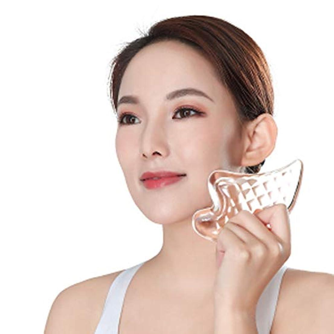 判決バタフライロマンチックCangad かっさプレート 美顔器 高品質 3Dクリスタル 小顔 美顔グッズ 羽根型 ボディ マッサージ かっさマッサージ 刮痧 ウィング型 健康グッズ