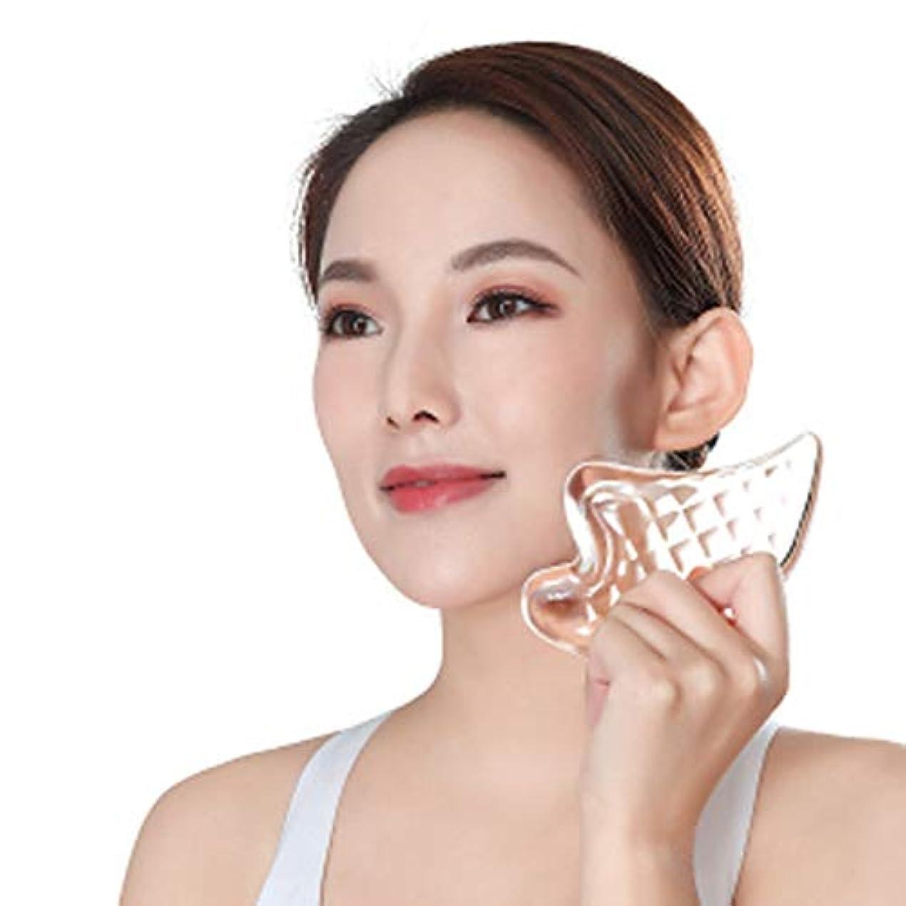 暗記する許可する非行Cangad かっさプレート 美顔器 高品質 3Dクリスタル 小顔 美顔グッズ 羽根型 ボディ マッサージ かっさマッサージ 刮痧 ウィング型 健康グッズ