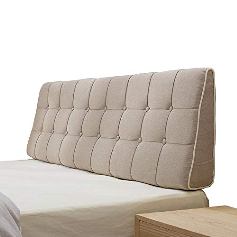耳スカリーこれらLIANGLIANG クッションベッドの背もたれ 家のベッドルームの読書用枕快適なベッド背もたれのクッションレトロ、6色、7サイズ (色 : ベージュ, サイズ さいず : 150x50x15cm)
