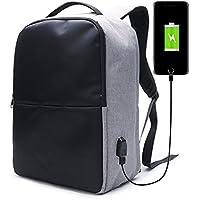 ラップトップバックパック E Ekphero 15.6インチPCバッグ USB充電ポート 盗難防止 ビジネスリュック 大容量 リュックサック 多機能 通勤 出張 通学 旅行 男女兼用