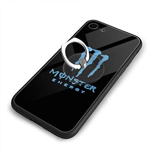 ブルーモンスターエナジーロゴ IPhone8 ケース IPhone7 ケース 背面ガラス+TPUバンパー 超薄超軽量 おしゃれ 指紋防止 一体型 人気 耐衝撃 すり傷防止 超耐久 スマホケース