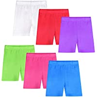 Auranso 6 Pack Girls Dance Shorts Bike Short Breathable and Safety Undershorts