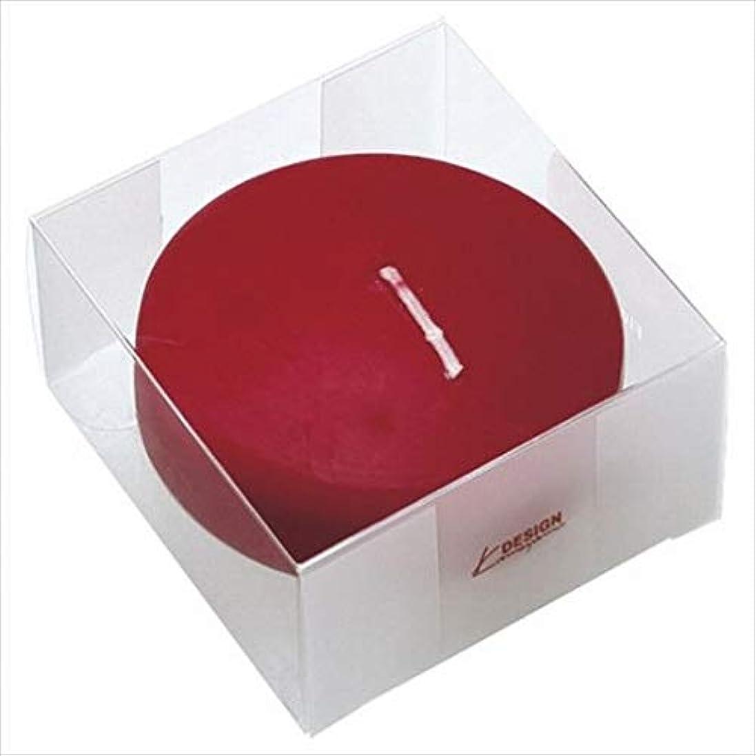 ウェイドピアノを弾くのれんカメヤマキャンドル(kameyama candle) プール80 (箱入り) 「 ワインレッド 」 キャンドル 6個セット