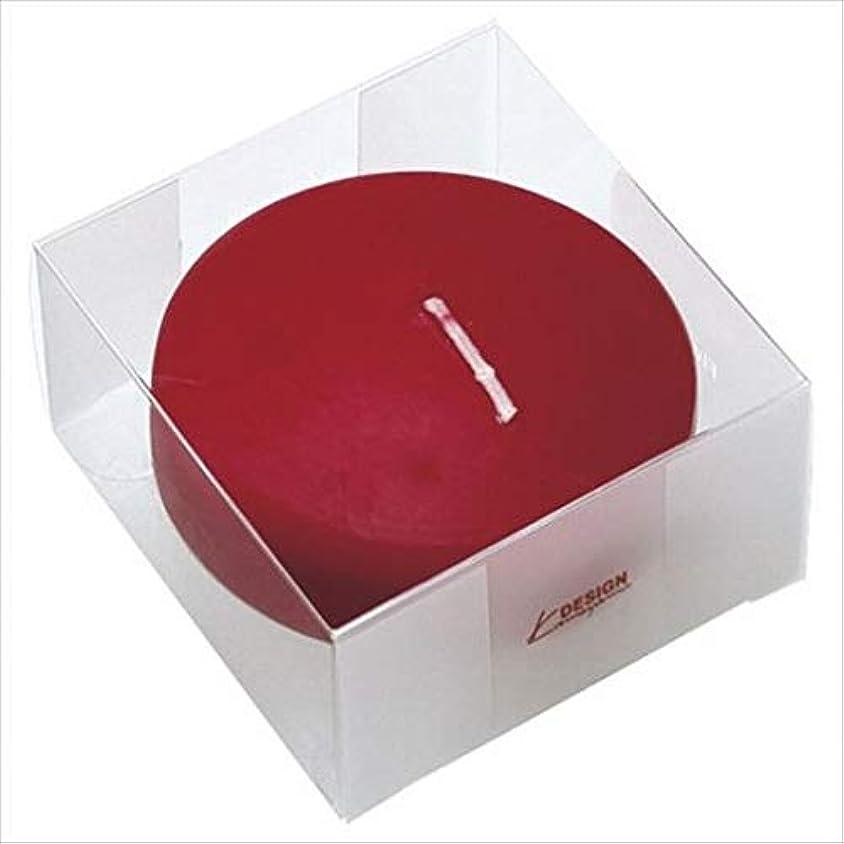 図連続的貫入カメヤマキャンドル(kameyama candle) プール80 (箱入り) 「 ワインレッド 」 キャンドル 6個セット