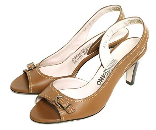 (フェラガモ) Salvatore Ferragamo レディース サンダル 靴 ヒール MICRONESIA LEONE 407788 キャメル 8 [並行輸入品]