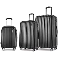 Wanderlite Luggage Suitcase Set with Mulit-Colour