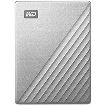 WD HDD ポータブル ハードディスク My Passport Ultra シルバー 4TB USB3.0  暗号化 パスワード保護 3年保証  WDBFTM0040BSL-WESN