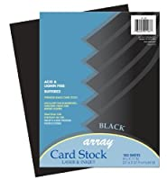 Pacon Card Stock 8 1/2 inches by 11 inches Black 100 Sheets (101187) [並行輸入品]