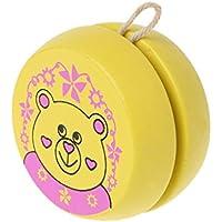 Chone Yoyoボールおもちゃ、かわいい動物Prints Wooden Yoyoおもちゃ、赤ちゃん幼児教育玩具 S 7HH900330