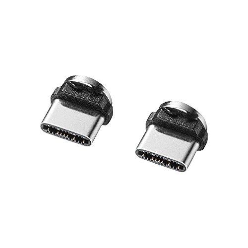 サンワサプライ Magnet脱着式USB Type Cコネクタ部品セット KU-MMG-C3K
