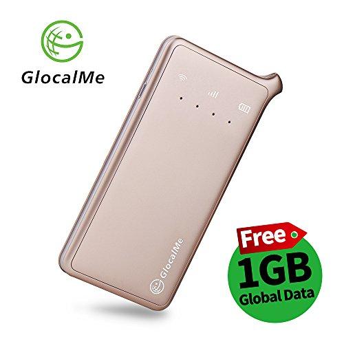 GlocalMe U2 モバイル Wi-Fi ルーター 1.1ギガ分のグローバルデータパック付け 高速4G LTE ポケットwifi simフリー グローバル対応 フリーローミング 国内・海外旅行最適 iPhone・Xperia・HTC・Galaxy・iPadなど全機種対応 超軽くて携帯便利 (ゴールド)