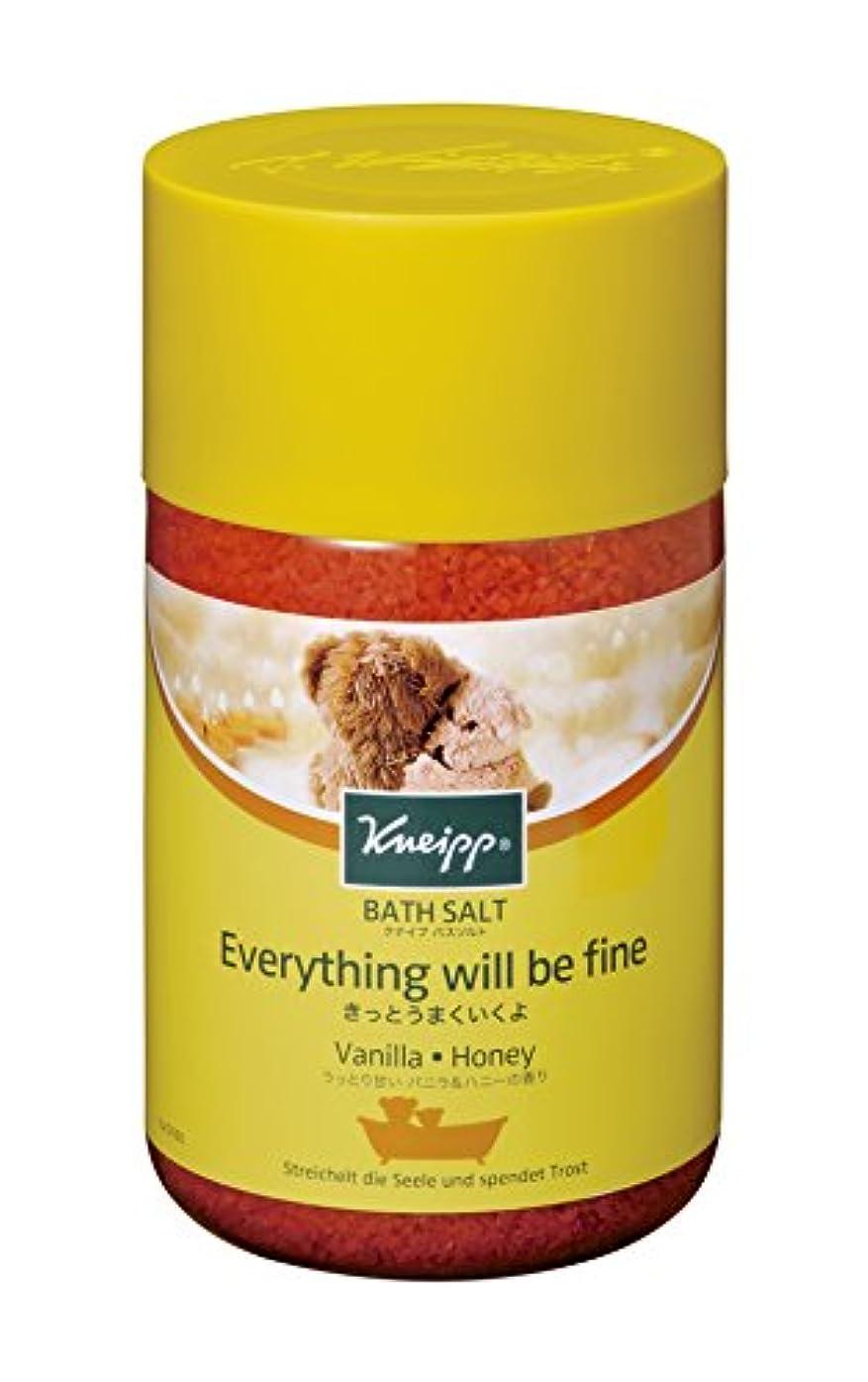 達成する愛されし者習慣クナイプ バスソルト バニラ&ハニーの香り 850g