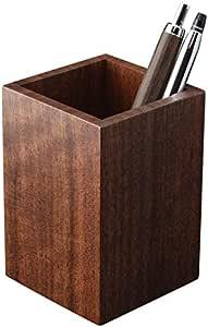 ペンスタンド 木製 ブラックウォールナット a