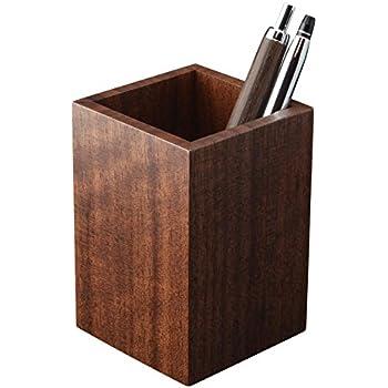 ペン立て 木製 ブラックウォールナット a