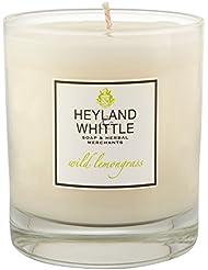 Heyland & Whittle Wild Lemongrass Candle (Pack of 2) - Heyland&削る野生レモングラスキャンドル (Heyland & Whittle) (x2) [並行輸入品]