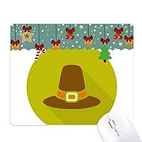 感謝祭の日の正式な帽子のパターン ゲーム用スライドゴムのマウスパッドクリスマス