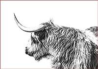 LovetheFamily ヤク 数字キットによる絵画 数字油絵 数字キット塗り絵 手塗り DIY絵 デジタル油絵 ホーム オフィス装飾 (40x50cm, フレーム付き)