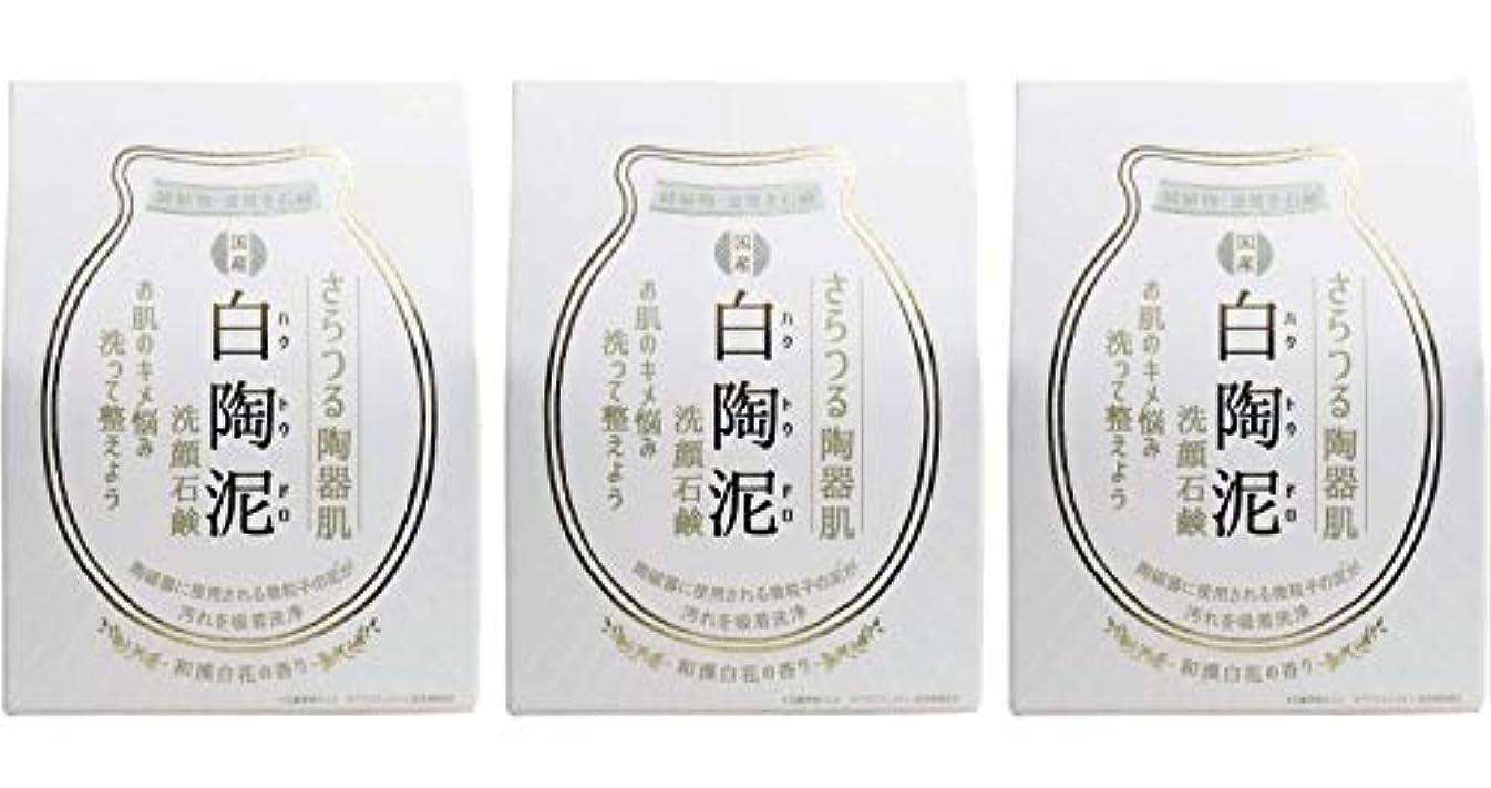 安心させる税金バルーンペリカン石鹸 白陶泥洗顔石鹸 100g ×3個セット