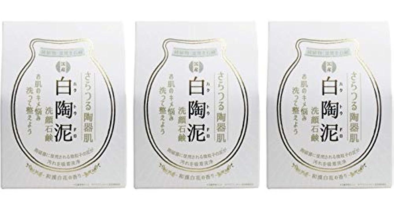 ママタブレット万歳ペリカン石鹸 白陶泥洗顔石鹸 100g ×3個セット