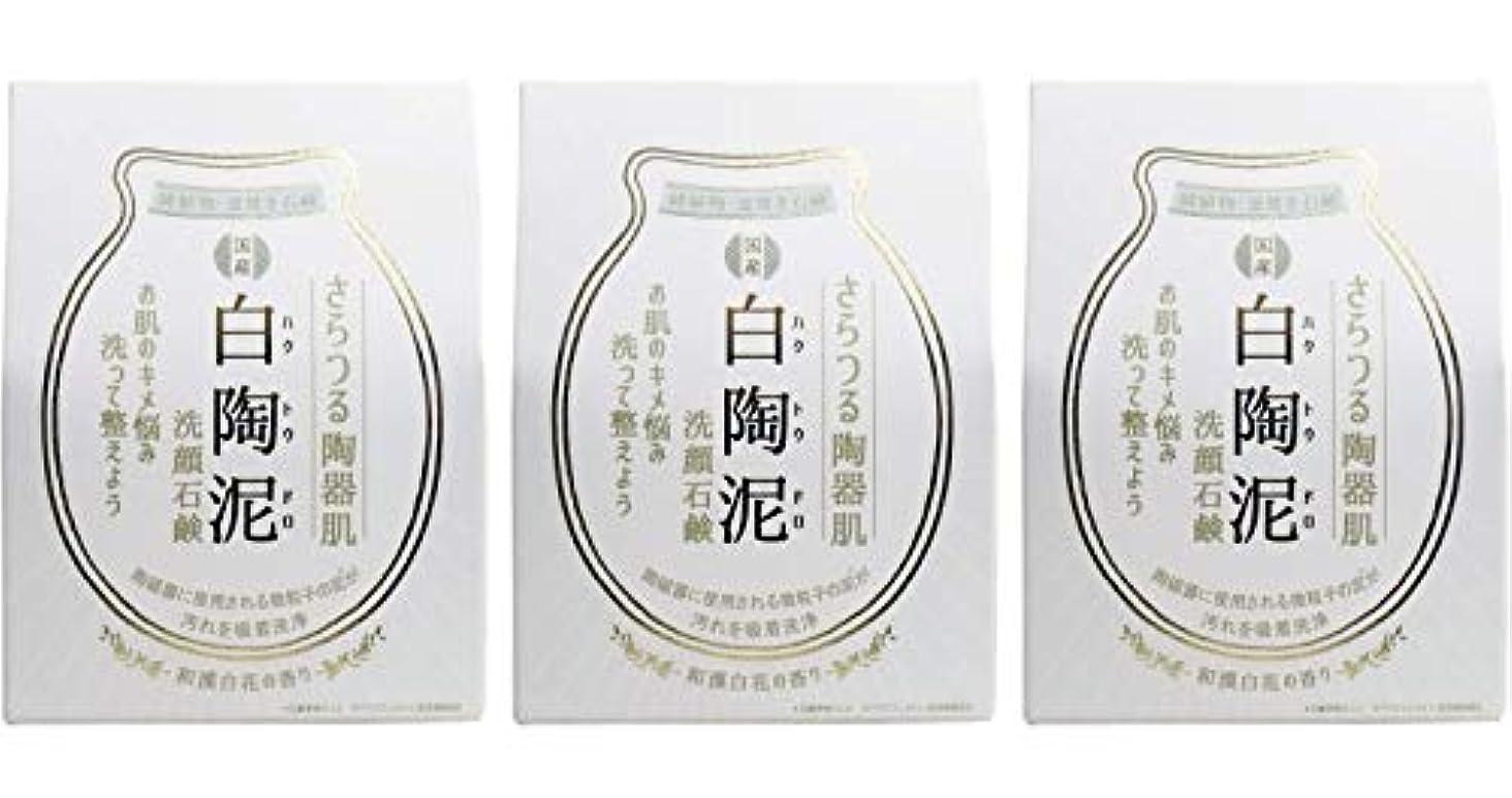 ペリカン石鹸 白陶泥洗顔石鹸 100g ×3個セット