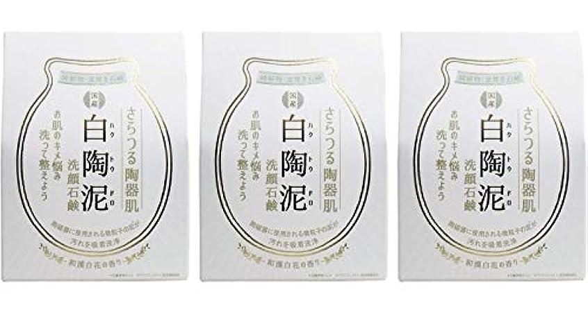存在損なう電気技師ペリカン石鹸 白陶泥洗顔石鹸 100g ×3個セット