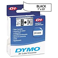 DYMOテつョ D1 Polyester High-Performance Label Cartridge TAPE,LABEL,ELEC,1,BK/WE 7255-04 (Pack of5) by DYMO