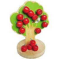 Greencherry 子供用 カラフルな木製の磁気木リンゴの木のおもちゃ 子供の操作力を高める 知能を開発する