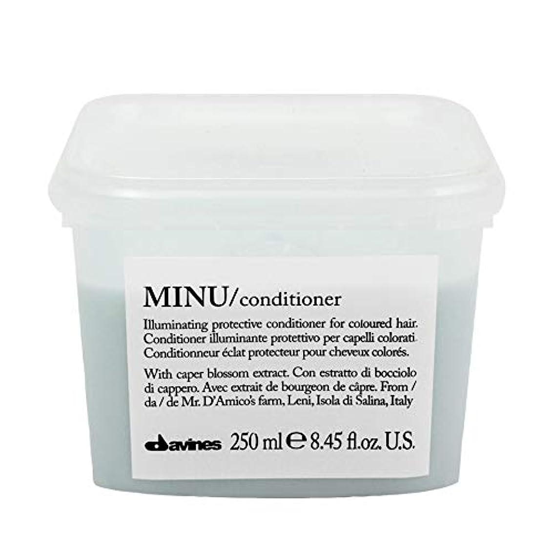 はっきりしないスープ床を掃除する[Davines ] ダヴィネスぬコンディショナー250ミリリットル - Davines Minu Conditioner 250ml [並行輸入品]