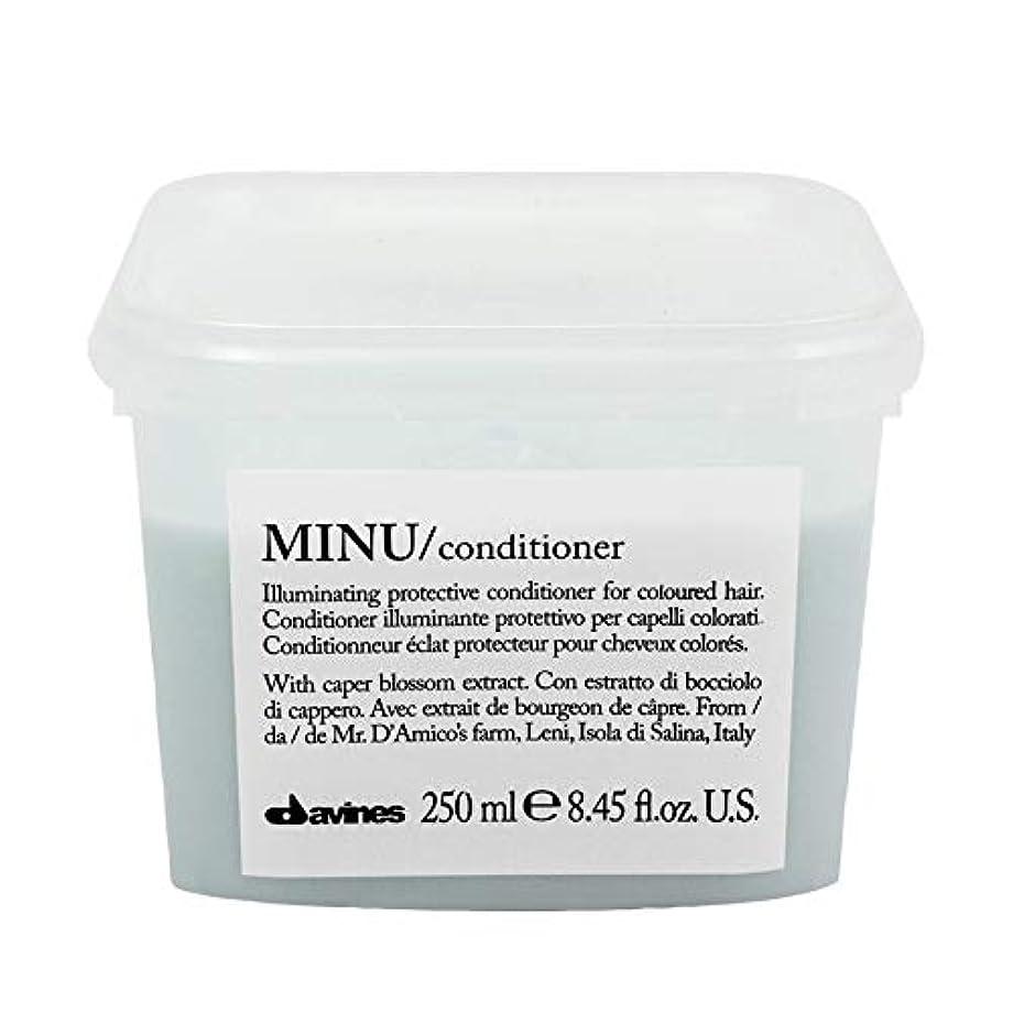 もつれスコアキルト[Davines ] ダヴィネスぬコンディショナー250ミリリットル - Davines Minu Conditioner 250ml [並行輸入品]
