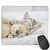 マウスパッド ねこ ぬいぐるみ 眠り グレー ゲーミング オフィス最適 おしゃれ 疲労低減 滑り止めゴム底 耐久性が良い 防水 かわいい PC MacBook Pro/DELL/HP/SAMSUNGなどに 光学式対応 高級感プレゼント VAMIX