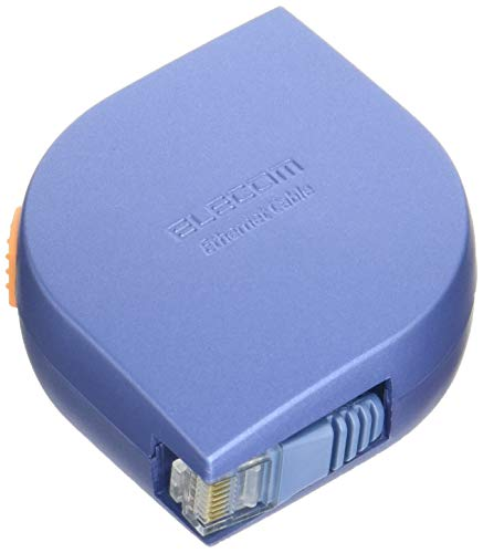 エレコム LANケーブル 2m モバイル 巻き取り式 CAT5e準拠 ブルーシルバー LD-MCTF/BS2